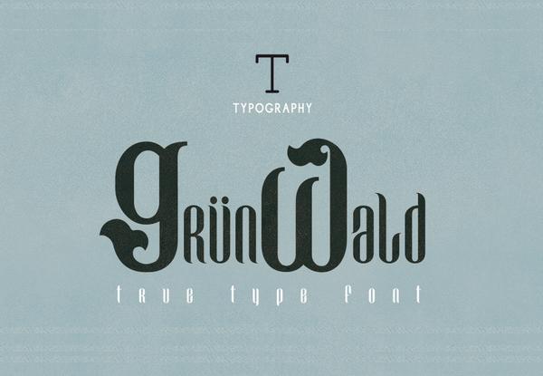 Grünwald free fonts