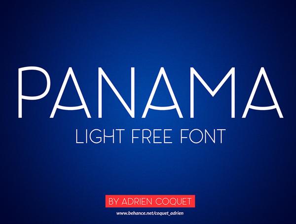Panama free fonts