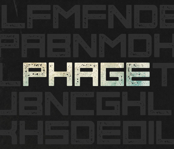 Phage free fonts