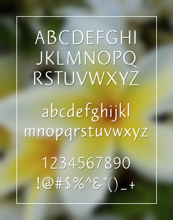 Plumeria Sans fonts