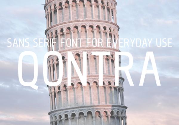 QONTRA free fonts