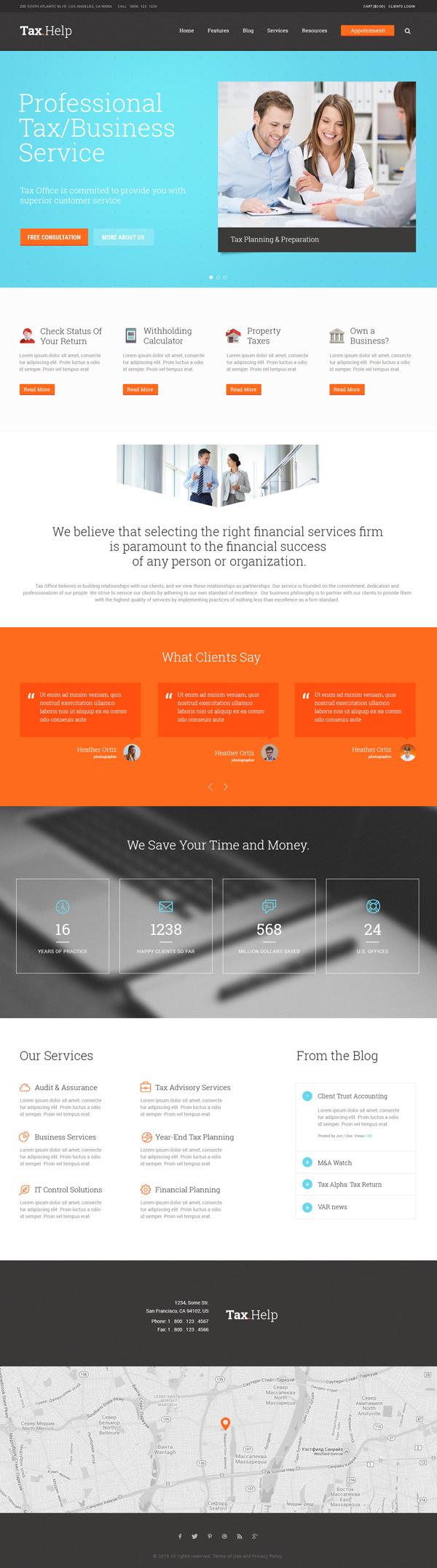 Tax Help - Finance & Accounting WordPress Theme