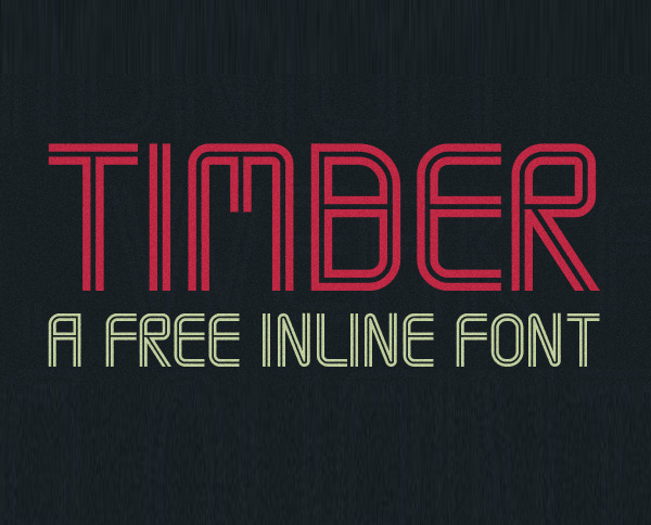 Timber free fonts