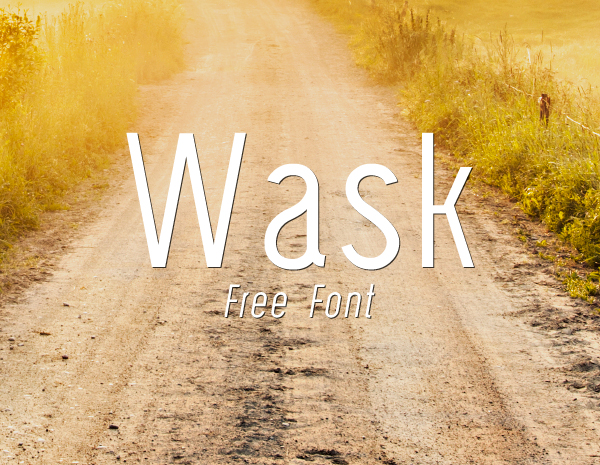 Wask free fonts