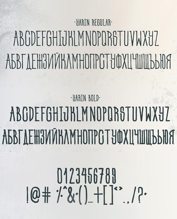 Yarin fonts