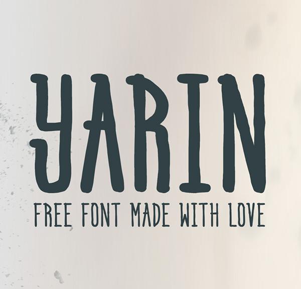 Yarin free fonts