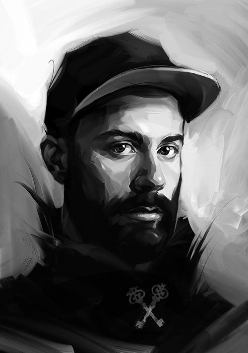 Creative Portrait Illustrations by Viktor Miller-Gausa