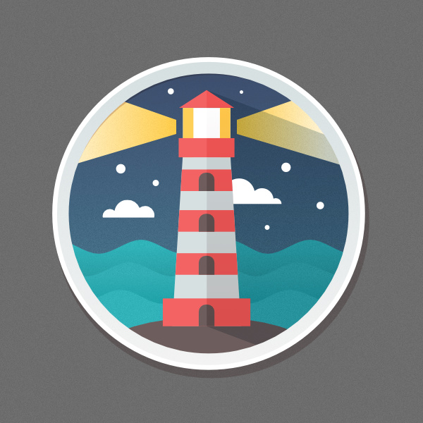 How to Create a Detailed Lighthouse Flat Icon in Affinity Designer