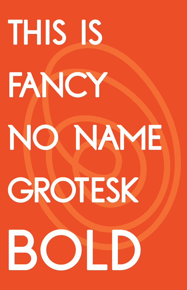 Fancy No Name Grotesk Bold free fonts