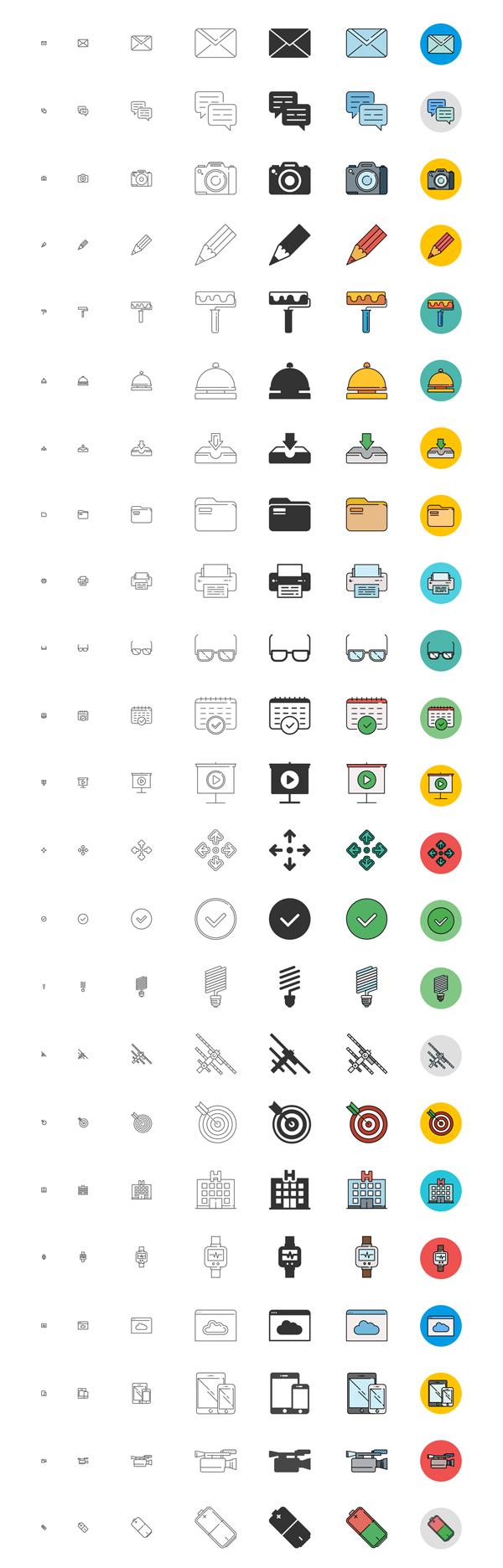 Free Responsive Icons Set - 192 Icons