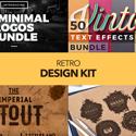 Post thumbnail of Retro Design Kit –  600+ Logos, Fonts and Textures