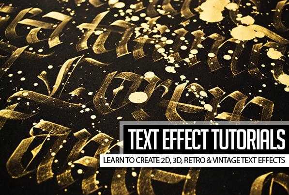 23 Creative Text Effect Photoshop & Illustrator Tutorials