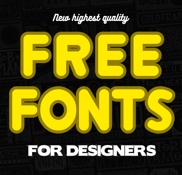 15 New Modern Free Fonts for Designers