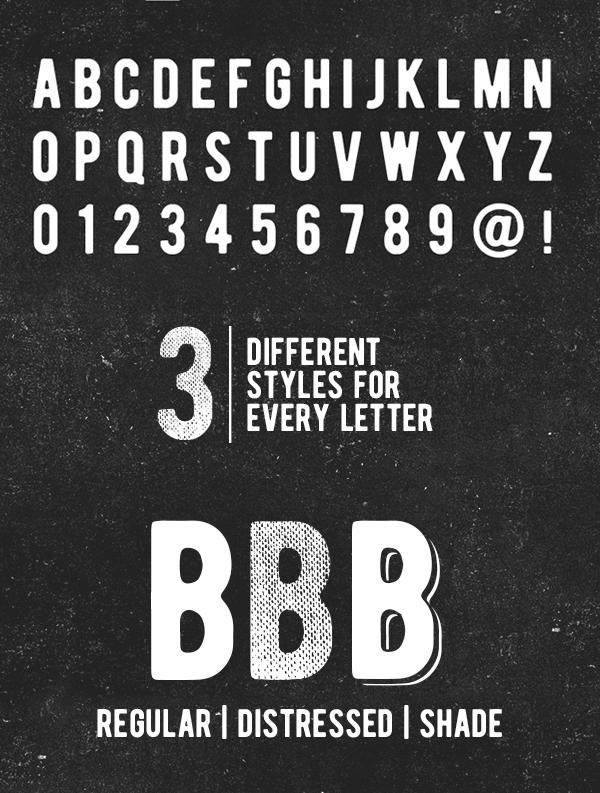 BERNIER font letters