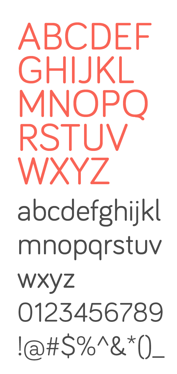 Bariol rounded font letters and numbers