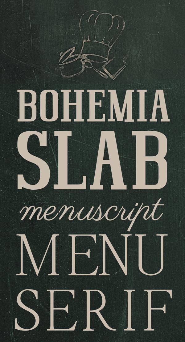 Bohemia SlabSerif free fonts
