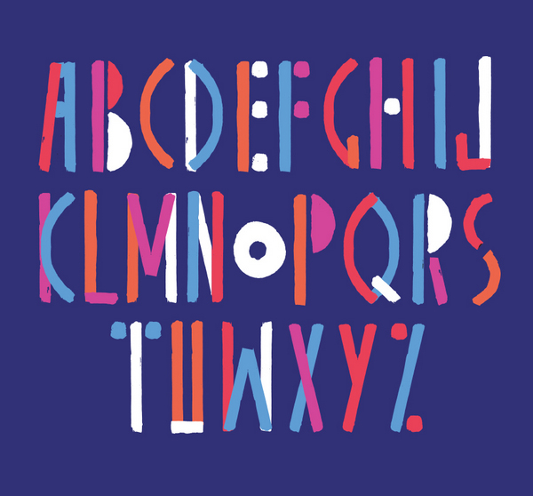 Carrote font letters
