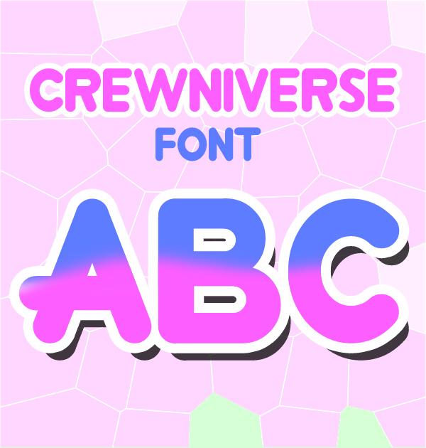 Crewniverse free fonts