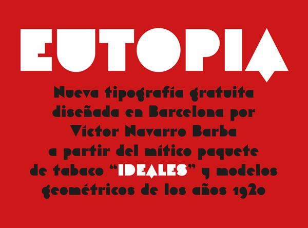 Eutopia free fonts