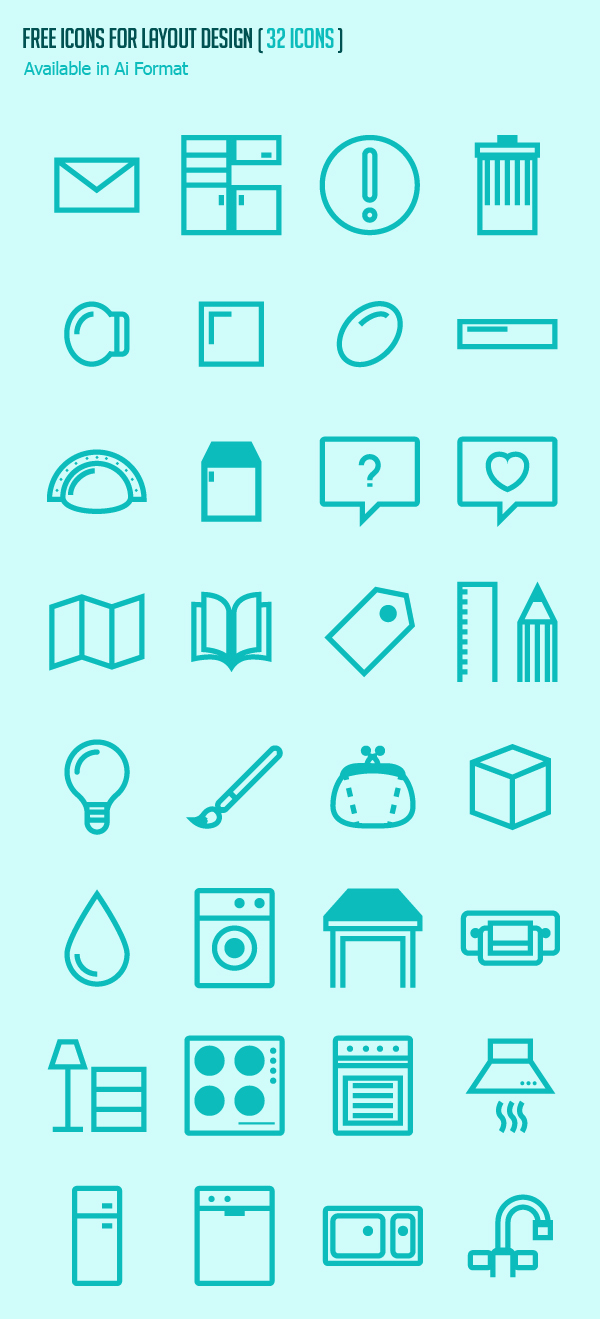 Free Icons for Layout Design