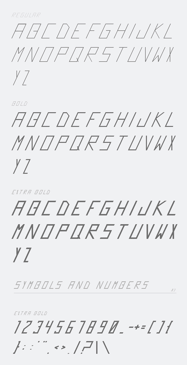 Futrista Two font letters
