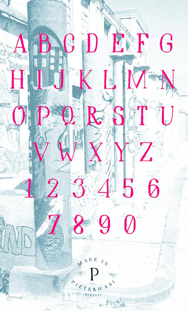 Hidden Cinema font letters