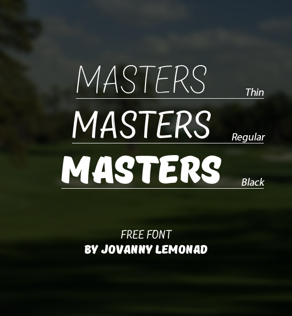 Masters free fonts