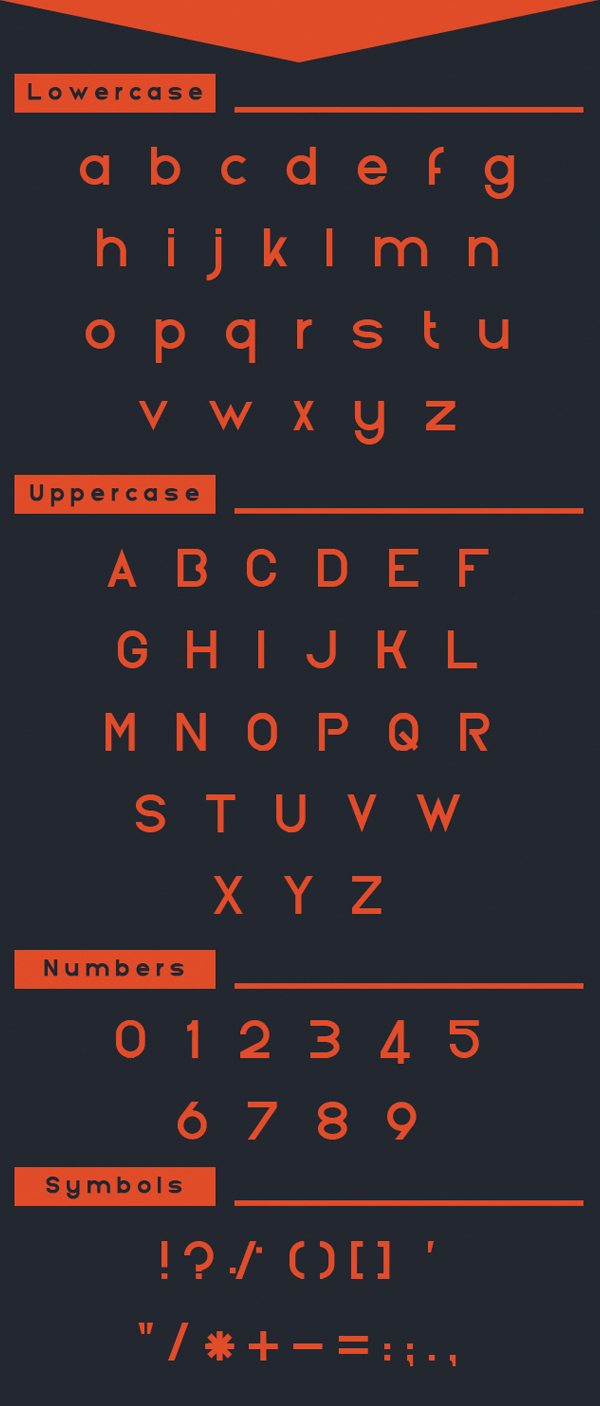 Nektarin font letters