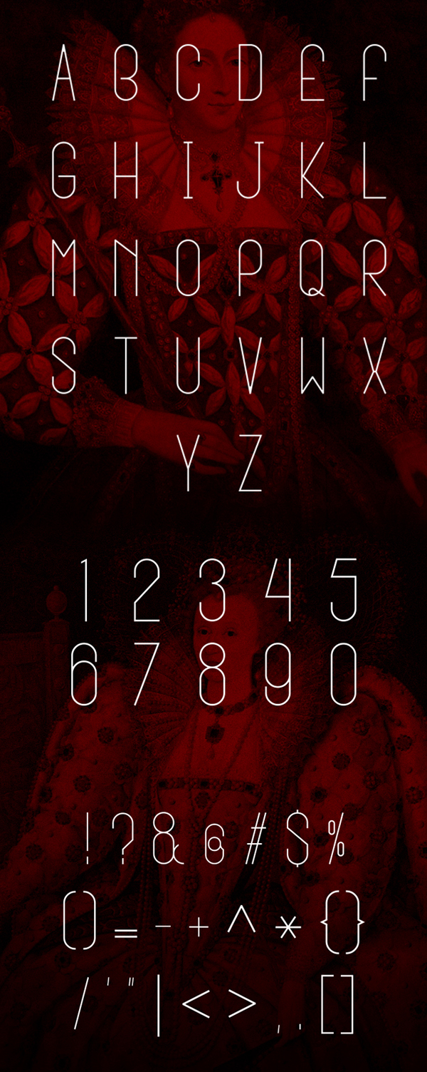 Queen font letters