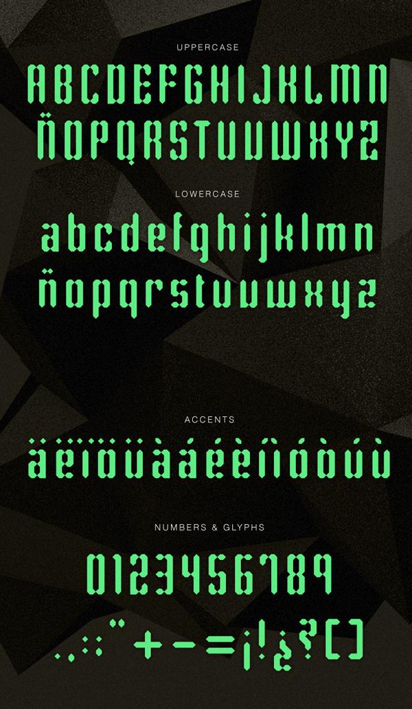 Rhombus font letters