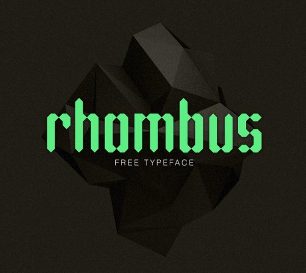 Rhombus free fonts
