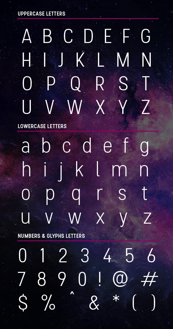 Stellar font letters