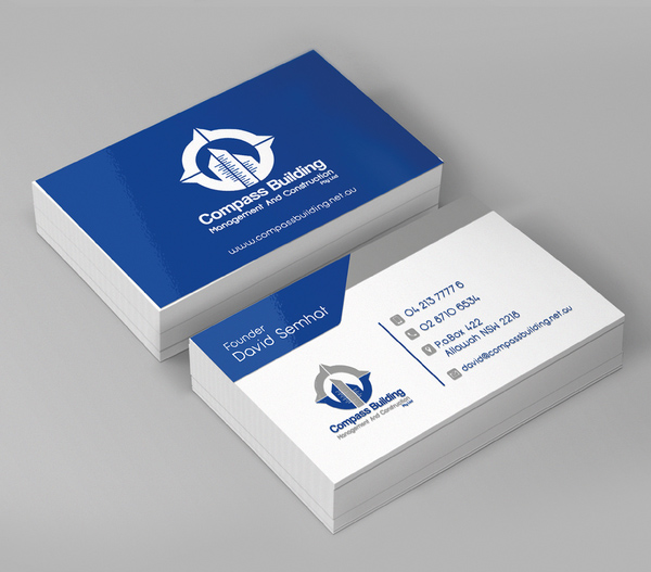 Compass Building Business Card Design