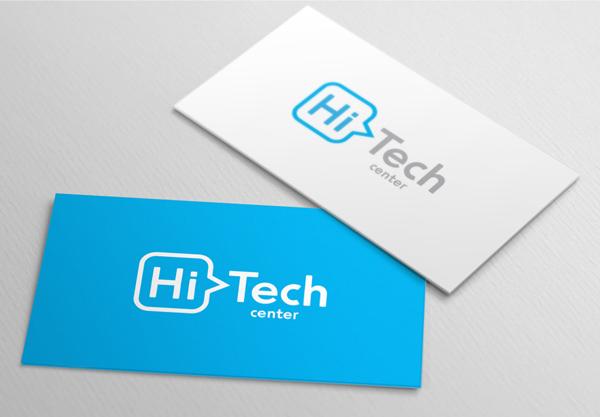 HiTech Center Business Card Design