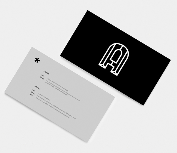 Aaron Moya Business Card Design