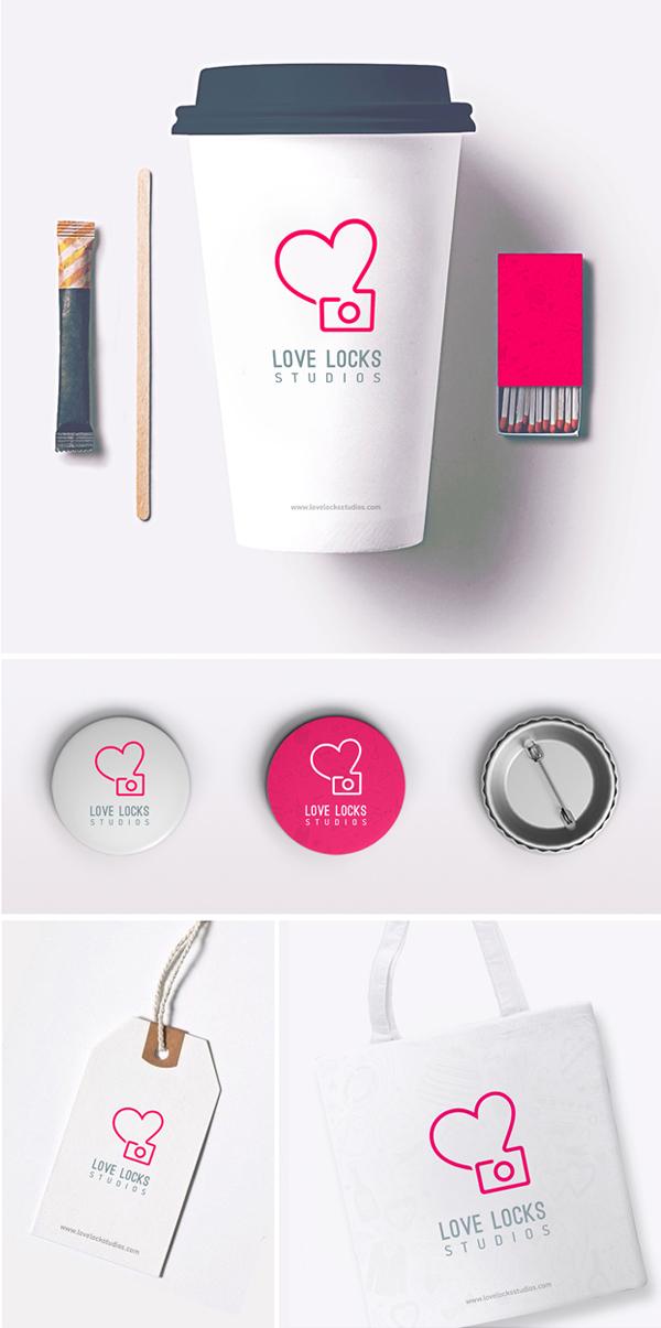 Love Locks Studios Business Card Design