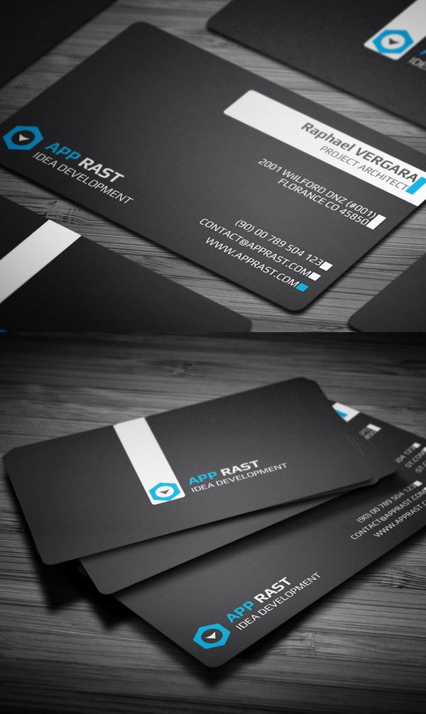 Black Colors Business Card