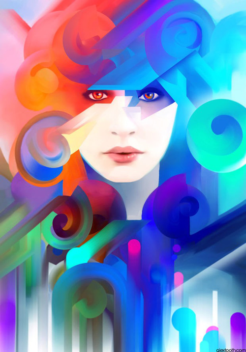 Amazing Mix Digital Illustrations by Alex Tooth