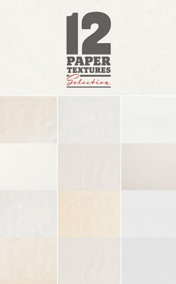 12 Paper Textures Backgrounds
