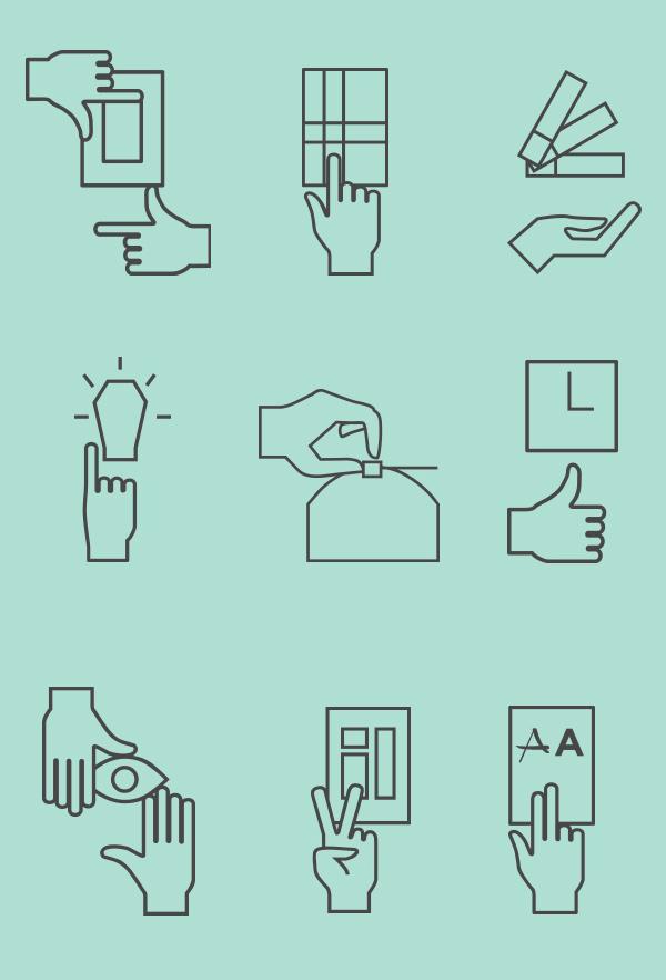 Free icon set for web UI