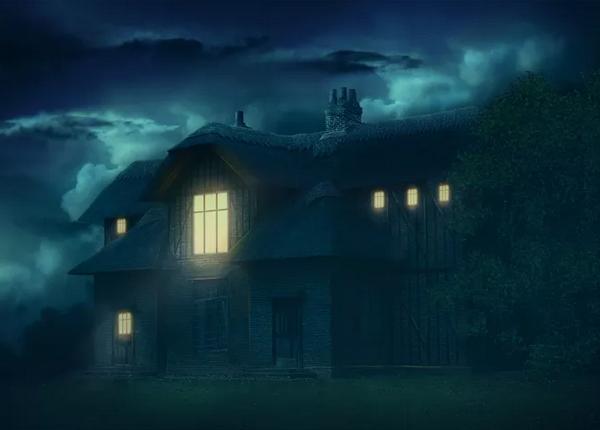 Create Gloomy House Scene In Photoshop Tutorial