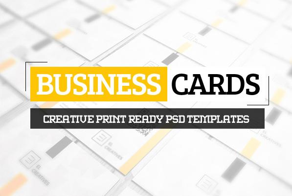 Corporate Creative Business Card PSD Templates