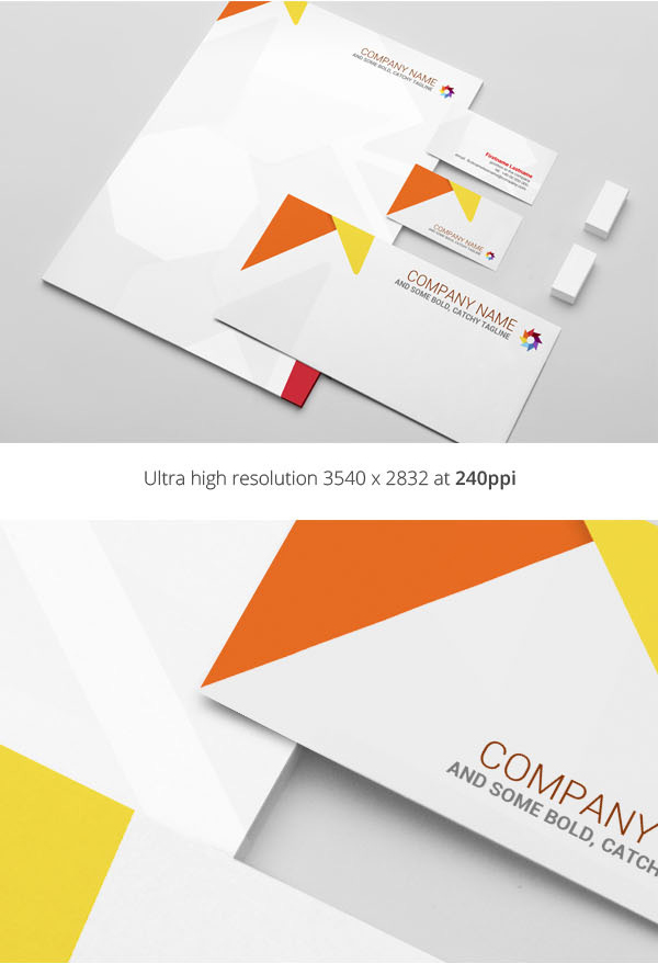 Free Stationery Presentation Mockup