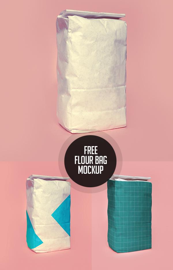 Free Flour Bag PSD Mockup