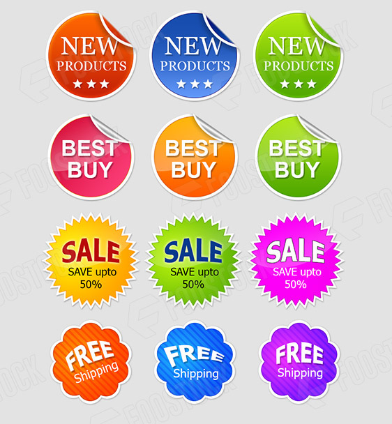 Free E-Commerce Badge Set – Vector