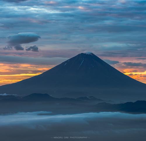Sunrise glow of Mt.Fuji Landscape photography