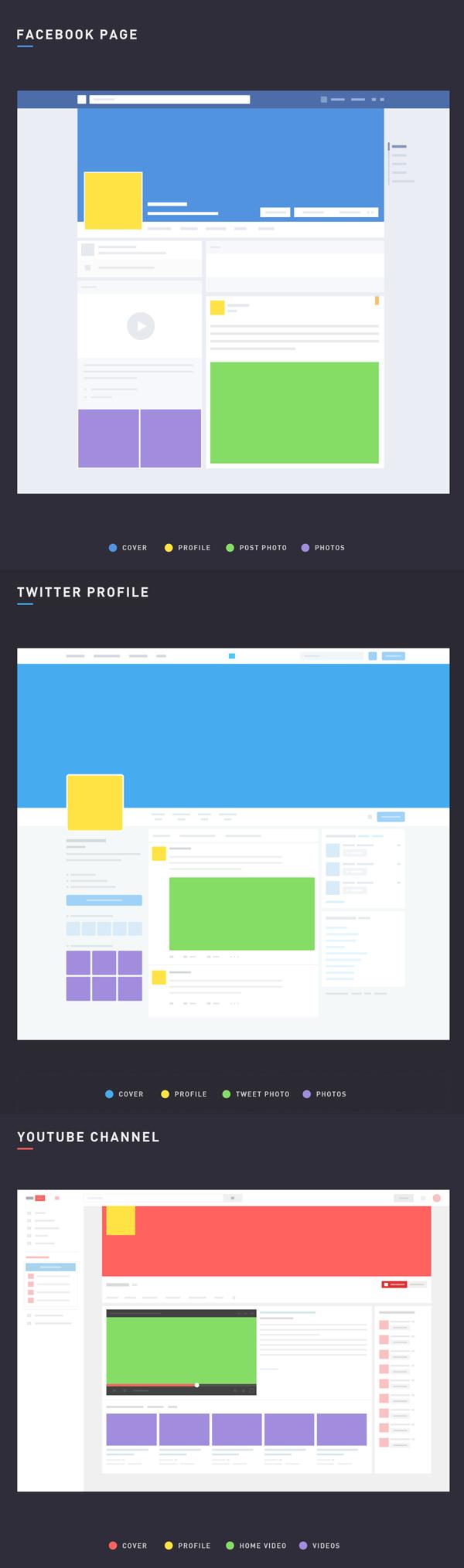 Free Social Media Mockup PSD Layouts