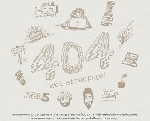 Creative 404 Error Page Designs