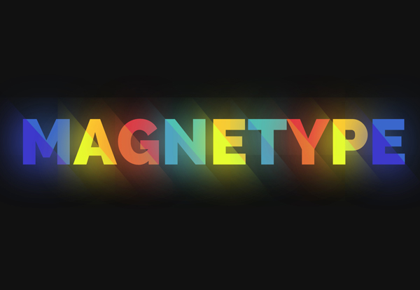 MAGNETYPE: Bright Text Effect and Animation
