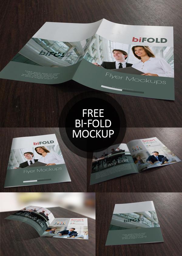 Free Bifold Brochure PSD Mockups